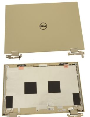 """Dell Inspiron 13 (7359) 2-in-1 / 13.3"""" LCD Back Cover Lid Assembly with Hinges - 4K3WJ"""