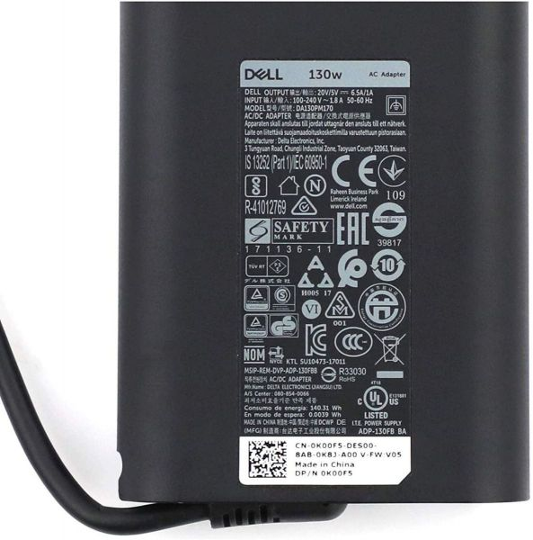 Dell 130W 20V 6.5A Type-C Original Laptop Adapter