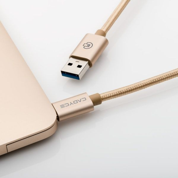 Cadyce CA-C3AM USB-C to USB 3.0 A Type Male Cable (Gold)
