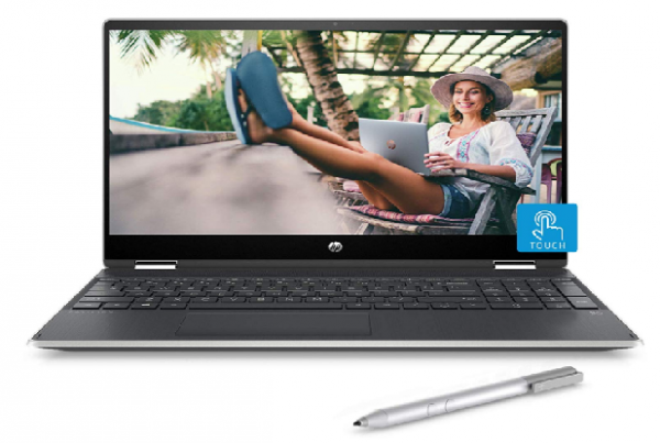 HP Pavilion x360 14-DH1008TU Laptop(Core i3 10th Gen/4GB/1TB HDD + 256GB SSD/Win 10/MS Office/Inking Pen/14-inch FHD Touchscreen 2-in-1 Alexa Enabled)