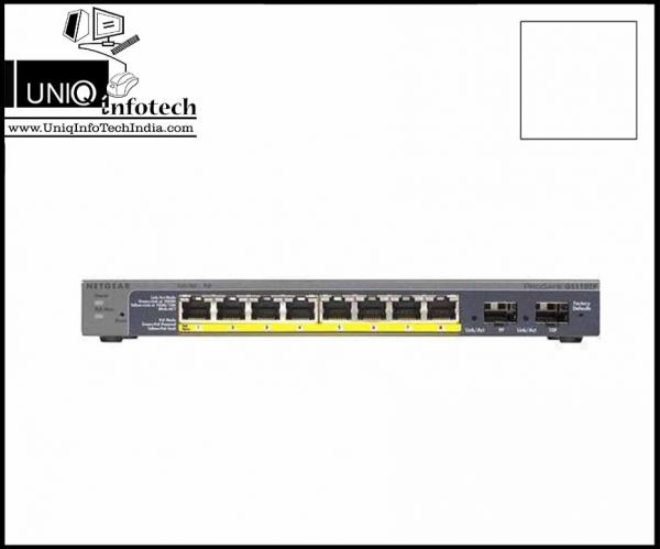 NETGEAR ProSafe GS110TP-200 8-PORT UTP Gigabit PoE Smart Switch 2 SFP Fiber