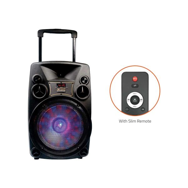 Artist BT918 Outdoor Bluetooth Speaker With Usb /Fm/Tf Card Reader/Aux In/Mic In Trolley Bluetooth Speaker