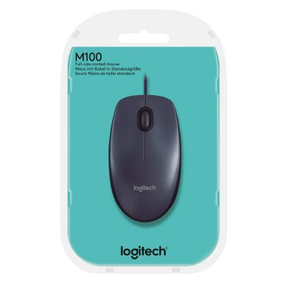 Logitech M100r Wired USB Mouse