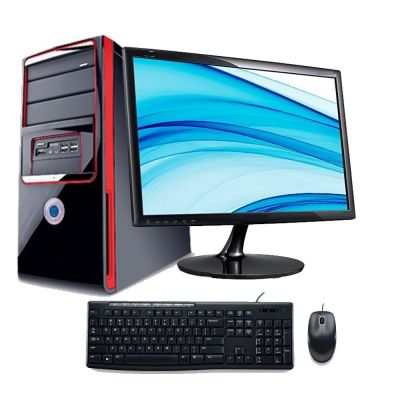 Uniq Trade Assembled Desktop Computer (Intel Core 2 Duo/4GB DDR2/500 GB/Windows 7/15.6 Inch Monitor)