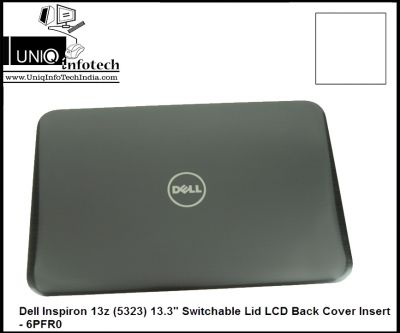 """Dell Inspiron 13z (5323) 13.3"""" Switchable Lid LCD Back Cover Insert - 6PFR0"""