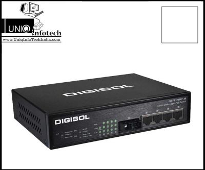 DIGISOL 4 POE 10/100M PORTS ETHERNET UNMANAGED SWITCH W/ 1 FIBRE PORT