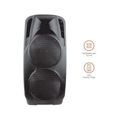 Artist BT927 Outdoor Bluetooth Speaker With Usb /Fm/Tf Card Reader/Aux In/Mic In Trolley Bluetooth Speaker