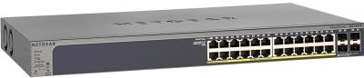 NetGear Prosafe 24 Port 10/100/1000 All PoE  With 4 SFP Smart L2 Switch - GS728TPP