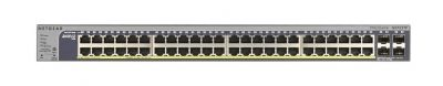 NetGear Prosafe 48 Port 10/100/1000 All PoE + 4 SFP Smart L2 Switch - GS752TP